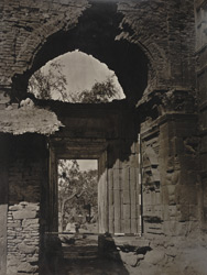 Kashmir. Gateway leading to enclosure, (once a Hindu Temple) of Zein-ul-ab-ud-din's Tomb, in Srinagar. Probable date A.D. 400 to 500 (?)